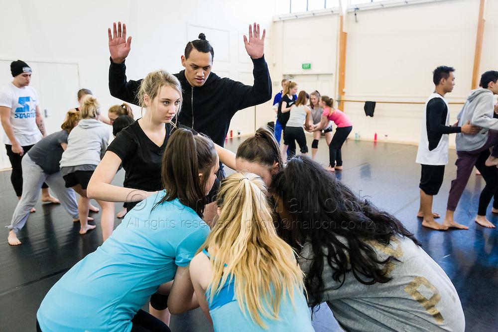 APO Dance Project, Te Manu Ahi rehearsals.<br /> St Kentigern and Unitec