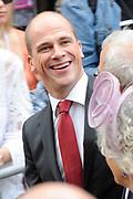 Prinsjesdag 2014 - Aankomst Politici op het Binnenhof.<br /> <br /> Op de foto:  Diederik Samsom