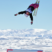 Jamie Crane-Mauzy (Waterville valley, NH) performs aerial acrobatics during the 2009 Sprint US Freestyle Championships held at the Utah Olympic Park in Park City on March 8, 2009. Crane-Mauzy scored 103.45 points on the day which was good enough for 9th place overall.