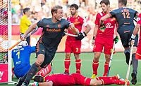 ANTWERPEN - Billy Bakker (Ned) heeft gescoord tijdens de   halve finale  mannen, Nederland-Spanje (3-4) ,  bij het Europees kampioenschap hockey. COPYRIGHT KOEN SUYK
