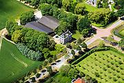 Nederland, Noord-Holland, Beemster, 14-06-2012; De Beemster, 400 jaar 1612 - 2012. Middenweg, kruising Volgerweg). Rustenhoven, voorbeeld  van een Beemster Lusthof..In the 400 year old Beemster polder this mansion is example of a 'pleasure groud', 17th century monument, UNESCO monument.luchtfoto (toeslag), aerial photo (additional fee required);.copyright foto/photo Siebe Swart
