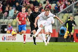 November 15, 2018 - Gdansk, Poland, ARKADIUSZ MILIK from Poland during football friendly match between Poland - Czech Republic at the Stadion Energa in Gdansk, Poland