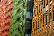 Multicoloured offices of Google on St Giles High Street in London, England, United Kingdom. Google is an American multinational technology company specializing in Internet-related services and products.