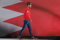 February 23, 2019 - Abu Dhabi, United Arab Emirates - Vincenzo Nibali from Team Bahrain - Merida from Bahrain, during the Team Presentation, at the opening ceremony of the 1st UAE Tour, inside Louvre Abu Dhabi museum..On Saturday, February 23, 2019, Abu Dhabi, United Arab Emirates. (Credit Image: © Artur Widak/NurPhoto via ZUMA Press)