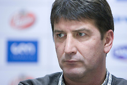 Leopold Kalin at  press conference of Handball women national team of Slovenia before prequalification tournament (for World Championship China 2009) in Montenegro from 25th till 30th November 2008, on November 31, 2008, in RZS, Ljubljana, Slovenia. (Photo by Vid Ponikvar / Sportida)