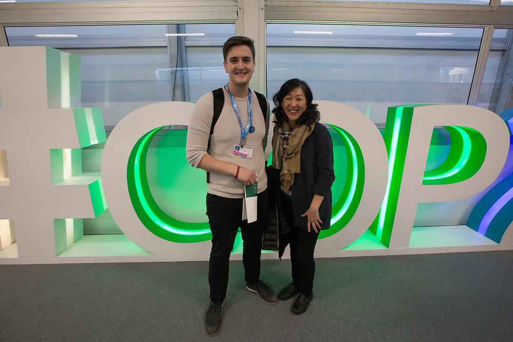 Sindri Geir Oskarsson, Icelandic theologian and Lutheran delegate to the UN climate talks COP24, with Korean eco-theologian Grace Ji-Sun Kim