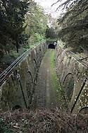 Paris 14 th district, the petite ceinture, the former train line , in  the parc Montsouris / la petite ceinture, l'ancienne voie de chemin de fer qui faisait le tour de Paris. dans le 14 em arrondissement,dans le parc Montsouris
