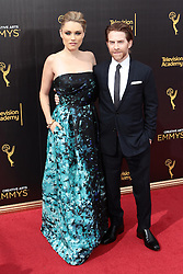 .Claire Grant, Seth Green attend  2016 Creative Arts Emmy Awards - Day 2 at  Microsoft Theater on September 11th, 2016  in Los Angeles, California.Photo:Tony Lowe/Globephotos