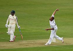 Hampshire's Andre Adams - Photo mandatory by-line: Robbie Stephenson/JMP - Mobile: 07966 386802 - 26/04/2015 - SPORT - Cricket - Southampton - The Ageas Bowl - Hampshire v Nottinghamshire - County Championship Division One