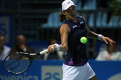 Katarina Srebotnik of Slovenia at 2nd Round of Banka Koper Slovenia Open 2008, on July 22, 2008, Portoroz - Portorose, Slovenia. (Photo by Vid Ponikvar / Sportal Images)...
