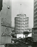 1963 Capitol Records Tower with Christmas tree of lights