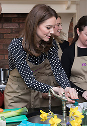 The Duchess of Cambridge during a visit to Extern at Savannah House, in County Meath, near Dublin, as part of her three day visit to the Republic of Ireland with the Duke of Cambridge.
