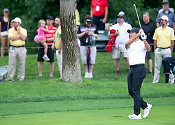 June 1, 2018 - Dublin, OH, U.S. - DUBLIN, OH - JUNE 01: Jason Day playing from the fairway during the second round of the Memorial Tournament at Muirfield Village Golf Club in Dublin, Ohio on June 01, 2018.(Photo by Jason Mowry/Icon Sportswire) (Credit Image: © Jason Mowry/Icon SMI via ZUMA Press)