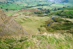 Mam Tor is one of Castleton's most famous landmarks, it has an active debris flow resulting from a rotational landslide that happened around 4,000 years ago and gives Mam Tor it's very distinctive eastern face. The area below this face is continually moving as the loose shale is undermined by natural erosion The A625 main road from Stockport to Sheffield used to run past the eastern Face of Mam Tor until 1974 when it was swept away by a landslide Finally closed for good in 1979. It's now only passable on foot. <br /> 11 October 2015<br />  Image © Paul David Drabble <br />  www.pauldaviddrabble.co.uk<br />  11 October 2015<br />   Image © Paul David Drabble <br />   www.pauldaviddrabble.co.uk