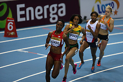07.03.2014, Ergo Arena, Sopot, POL, IAAF, Leichtathletik Indoor WM, Sopot 2014, Tag 1, im Bild Joana Atkins (USA) competite during the 400 meters run // Joana Atkins (USA) competite during the 400 meters run during day one of IAAF World Indoor Championships Sopot 2014 at the Ergo Arena in Sopot, Poland on 2014/03/07. EXPA Pictures © 2014, PhotoCredit: EXPA/ Newspix/ Michal Fludra<br /> <br /> *****ATTENTION - for AUT, SLO, CRO, SRB, BIH, MAZ, TUR, SUI, SWE only*****
