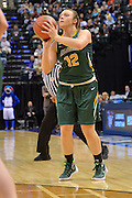 April 4, 2016; Indianapolis, Ind.; Jenna Buchanan shoots a three pointer in the NCAA Division II Women's Basketball National Championship game at Bankers Life Fieldhouse between UAA and Lubbock Christian. The Seawolves lost to the Lady Chaps 78-73.