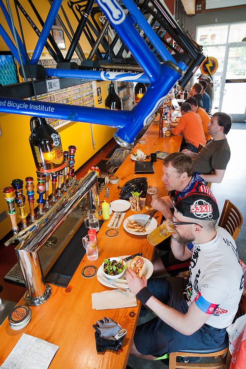 Hopworks Urban Brewery / HUB, Bike Bar in North Portland Oregon