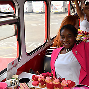 Karen Bryson attend Brigits Bakery host their Pink Ribbon Afternoon Tea in aid of the Pink Ribbon Foundation, London, UK. 16 October 2018.