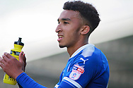 Chesterfield forward Jacob Brown (44)  claps the fans after the EFL Sky Bet League 2 match between Chesterfield and Notts County at the Proact stadium, Chesterfield, England on 25 March 2018. Picture by Nigel Cole.