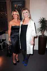 Left to right, MEG MATTHEWS and JO WOOD at the Inspiration Awards For Women held at Cadogan Hall, Sloane Terrace, London on 6th October 2010.