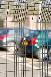 Security fencing round a carpark