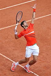 May 30, 2019 - Paris, France - Novak Djokovic (SRB) serves during the French Open Tennis at Stade Roland-Garros, Paris on Thursday 30th May 2019. (Credit Image: © Mi News/NurPhoto via ZUMA Press)