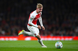 """Arsenal's Emile Smith-Rowe during the Carabao Cup, Third Round match at the Emirates Stadium, London. PRESS ASSOCIATION Photo. Picture date: Wednesday September 26, 2018. See PA story SOCCER Arsenal. Photo credit should read: Nick Potts/PA Wire. RESTRICTIONS: EDITORIAL USE ONLY No use with unauthorised audio, video, data, fixture lists, club/league logos or """"live"""" services. Online in-match use limited to 120 images, no video emulation. No use in betting, games or single club/league/player publications."""