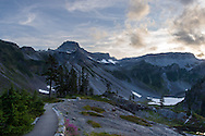 Table Mountain in the Heather Meadows area of the Mount Baker-Snoqualmie National Forest, Washington State, USA
