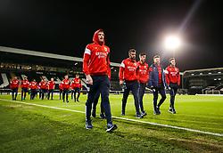 Aden Flint and his Bristol City teammates check out the pitch - Rogan/JMP - 31/10/2017 - Craven Cottage - London, England - Fulham FC v Bristol City - Sky Bet Championship.