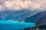 The splendid shoreline with turquoise water of Kefalonia