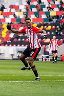 Brentford Forward Ivan Toney (#17) in action during the EFL Sky Bet Championship match between Brentford and Watford at Brentford Community Stadium, Brentford, England on 1 May 2021.