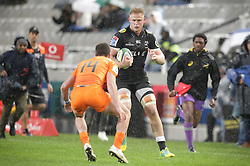 14072018 (Durban) Wian Voslo0 sharks player with a ball during a match of Sharks vs Jaguares at the Vodacom Super Rugby at Kings Park stadium, Durban.<br /> Picture: Motshwari Mofokeng/African News Agency/ANA