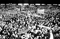 Fans - Kop. At Anfield, Liverpool 1974/75. Credit: Colorsport