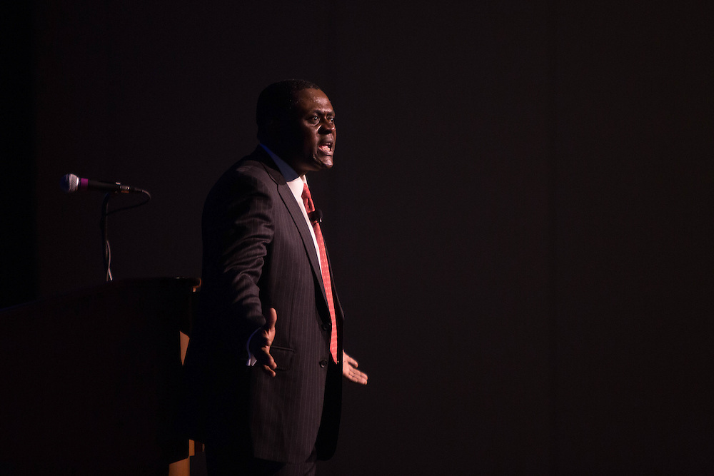 Portrait of Dr. Bennet Omalu, in Atlantic City.  Dr. Omalu was portrayed by Will Smith in the movie Concussion.<br /> Omalu's autopsy of former Pittsburgh Steelers Mike Webster led to Omalu's discovery of chronic traumatic encephalopathy, or CTE. 5/11/16  Photo by John O'Boyle