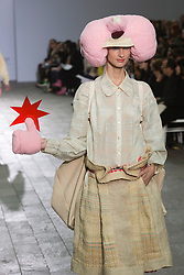 © Licensed to London News Pictures. 28/05/2013. London, England. Collection by Akiko Nei. Central St Martins BA Fashion show with collections by graduate fashion students. Photo credit: Bettina Strenske/LNP