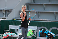 Clara BUREL (FRA) celebrated his victory during the Roland Garros 2020, Grand Slam tennis tournament, on October 1 st, 2020 at Roland Garros stadium in Paris, France - Photo Stephane Allaman / ProSportsImages / DPPI