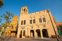 New Al Seef cultural district, built with traditional architecture and design, by The Creek waterside in Dubai, United Arab Emirates