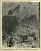 Wady Sidreh, [Wadi Sidr], Sinai Wood engraving of from 'Picturesque Palestine, Sinai and Egypt' by Wilson, Charles William, Sir, 1836-1905; Lane-Poole, Stanley, 1854-1931 Volume 4. Published in 1884 by J. S. Virtue and Co, London