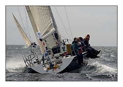 Yachting- The first days inshore racing  of the Bell Lawrie Scottish series at Tarbert Loch Fyne. Near perfect conditions saw over two hundred yachts compete. <br />Megalopolis  Humphries 37, IRL3922 class 2<br />Pics Marc Turner / PFM