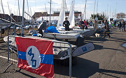The annual RYA Youth National Championships is the UK's premier youth racing event. This year's regatta is taking place in Largs, Scotland, and will feature around 200 young sailors aged between 14 and 21. <br /> <br /> 420 dinghy park <br /> <br /> Images: Marc Turner / RYA<br /> <br /> For further information contact:<br /> <br /> Richard Aspland, <br /> RYA Racing Communications Officer (on site)<br /> E: richard.aspland@rya.org.uk<br /> m: 07469 854599
