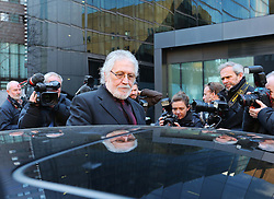 Dave Lee Travis  leaving Southwark Crown Court in London after being told there will be a re- trial on two sexual assault charges,  Monday, 24th February 2014. Picture by Stephen Lock / i-Images