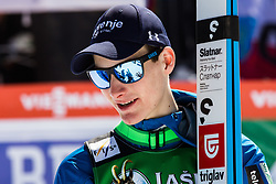 Domen Prevec (SLO) celebrates during trophy ceremony after the 2nd round of the Ski Flying Hill Individual Competition at Day 4 of FIS Ski Jumping World Cup Final 2019, on March 24, 2019 in Planica, Slovenia. Photo Peter Podobnik / Sportida