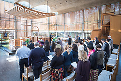 20 September 2017, Geneva, Switzerland: Morning prayers at the Ecumenical Centre in Geneva, as World Council of Churches staff gather for the annual Staff Enrichment Days.