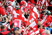 GEPA-0706086026 - BASEL,SCHWEIZ,07.JUN.08 - FUSSBALL - UEFA Europameisterschaft, EURO 2008, Schweiz vs Tschechien, SUI vs CZE. Bild zeigt Fans der Schweiz.<br />Foto: GEPA pictures/ Philipp Schalber