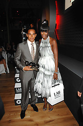 NAOMI CAMPBELL and racing driver LEWIS HAMILTON winner of the sportsman of the year award at the 10th annual GQ Men of the Year Awards held at the Royal Opera House, Covent Garden, London on 4th September 2007.<br /><br />NON EXCLUSIVE - WORLD RIGHTS