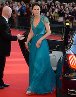 """The Duchess of Cambridge arrives for the """"Our Greatest Team Rises"""" Gala at the Royal Albert Hall, London, on the 11th May 2012.<br /> <br /> PICTURE BY JAMES WHATLING"""