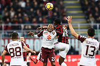 Franck Kessie-Joel Obi<br /> Milano 26-11-2017 Stadio Giuseppe Meazza in San Siro Football Calcio Serie A 2017/2018 Milan - Torino Foto Matteo Gribaudi / Image / Insidefoto