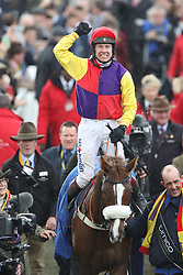 March 16, 2018 - Cheltenham, United Kingdom - Image licensed to i-Images Picture Agency. 16/03/2018. Cheltenham , United Kingdom . Native River -Winner of the Gold Cup  at the Cheltenham Festival, United Kingdom  (Credit Image: © Stephen Lock/i-Images via ZUMA Press)