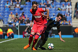 March 11, 2018 - Barcelona, Catalonia, Spain - Adnan Januzaj and Victor Sanchez during the match between RCD Espanyol and Real Sociedad, for the round 28 of the Liga Santander, played at the RCD Espanyol Stadium on 11th March 2018 in Barcelona, Spain. (Credit Image: © Joan Valls/NurPhoto via ZUMA Press)