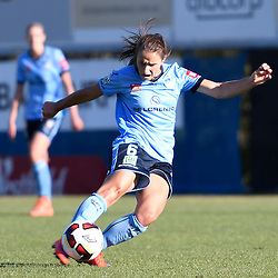 BRISBANE, AUSTRALIA - OCTOBER 30: Servet Uzunlar of Sydney kicks the ball during the round 1 Westfield W-League match between the Brisbane Roar and Sydney FC at Spencer Park on November 5, 2016 in Brisbane, Australia. (Photo by Patrick Kearney/Brisbane Roar)